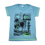 Camiseta Juvenil Summer  Azul