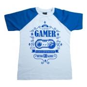 Camiseta Juvenil Super Gamer  Branco