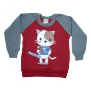 Casaco Bebê Cat Vermelho
