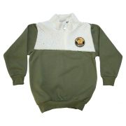Casaco Infantil Com Pêlo  Verde Militar