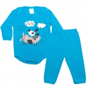 Conjunto Bebê Body Dog Royal