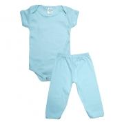 Conjunto Bebê Body e Calça Liso Verde