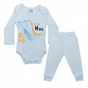 Conjunto Bebê Body Meu Dino Azul