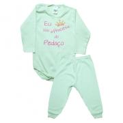 Conjunto Bebê Body Princesa Do Pedaço Verde Com Rosa