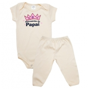 Conjunto Bebê Body Princesinha Do Papai Pérola