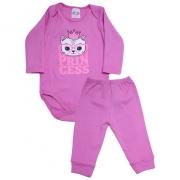 Conjunto Bebê Body Princess Pink