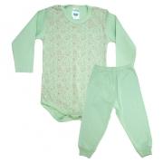 Conjunto Bebê Body Ursinhos Verde