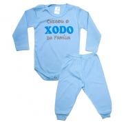 Conjunto Bebê Body Xodó Da Família Azul