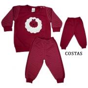 Conjunto Bebê Carneirinho Vermelho