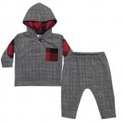 Conjunto Bebê Casaco e Calça Tecido