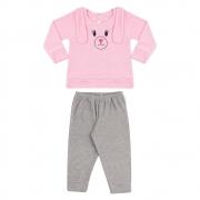 Conjunto Bebê Com Orelhinhas Rosa