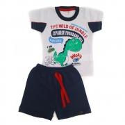 Conjunto Bebê Dino Branco