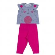 Conjunto Bebê Gatinho Pink