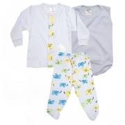 Conjunto Bebê Pagão 03 Peças Branco