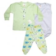 Conjunto Bebê Pagão 03 Peças Verde