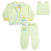 Conjunto Bebê Pagão Amarelo