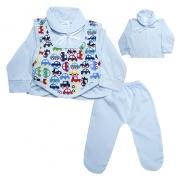 Conjunto Bebê Pagão Colete  Branco