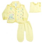 Conjunto Bebê Pagão Com Estampa Amarelo