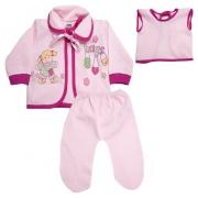 Conjunto Bebê Pagão Com Estampa Rosa