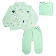Conjunto Bebê Pagão Com Estampa Verde