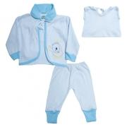 Conjunto Bebê Pagão  Vira Pé Baby Azul