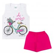 Conjunto Bebê Regata Bike Branco