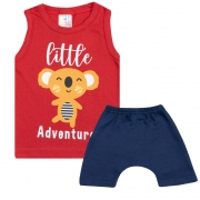 Conjunto Bebê Regata Little Adventure Vermelho