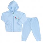 Conjunto Bebê Soft Com Zíper Azul