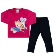 Conjunto Bebê Ursinha Pink