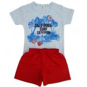 Conjunto Camiseta Califórnia Azul