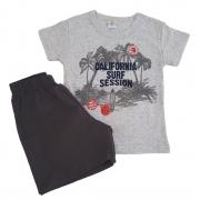 Conjunto Camiseta Califórnia Mescla