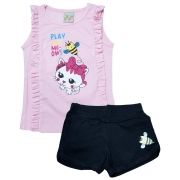 Conjunto Infantil Abelhinha Rosa