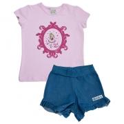 Conjunto Infantil Bailarina Rosa