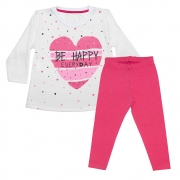 Conjunto Infantil Blusa Be Happy Pérola