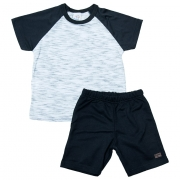 Conjunto Infantil Branco Com Preto