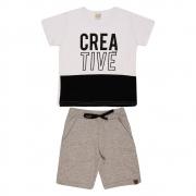 Conjunto Infantil Creative Branco