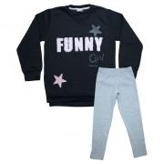Conjunto Infantil Funny Preto