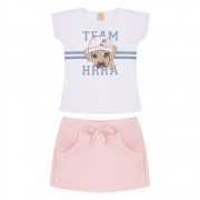 Conjunto Infantil Dog Team  Branco