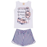 Conjunto Infantil Look Do Dia Branco