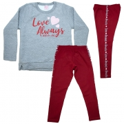 Conjunto Infantil Love Always Mescla