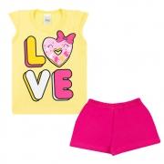 Conjunto Infantil Love Amarelo