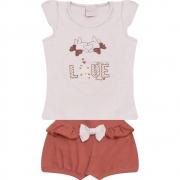 Conjunto Infantil Love Branco