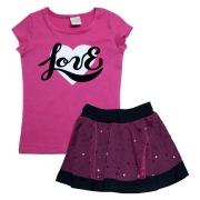 Conjunto Infantil Love Pink
