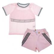 Conjunto Infantil Love Rosa