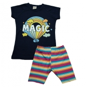 Conjunto Infantil Magic Marinho