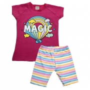 Conjunto Infantil Magic Pink