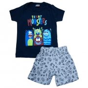 Conjunto Infantil Monsters Marinho