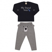 Conjunto Infantil My Friend Bear Preto