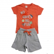 Conjunto Infantil No Waves Laranja