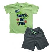 Conjunto Infantil No Waves Verde